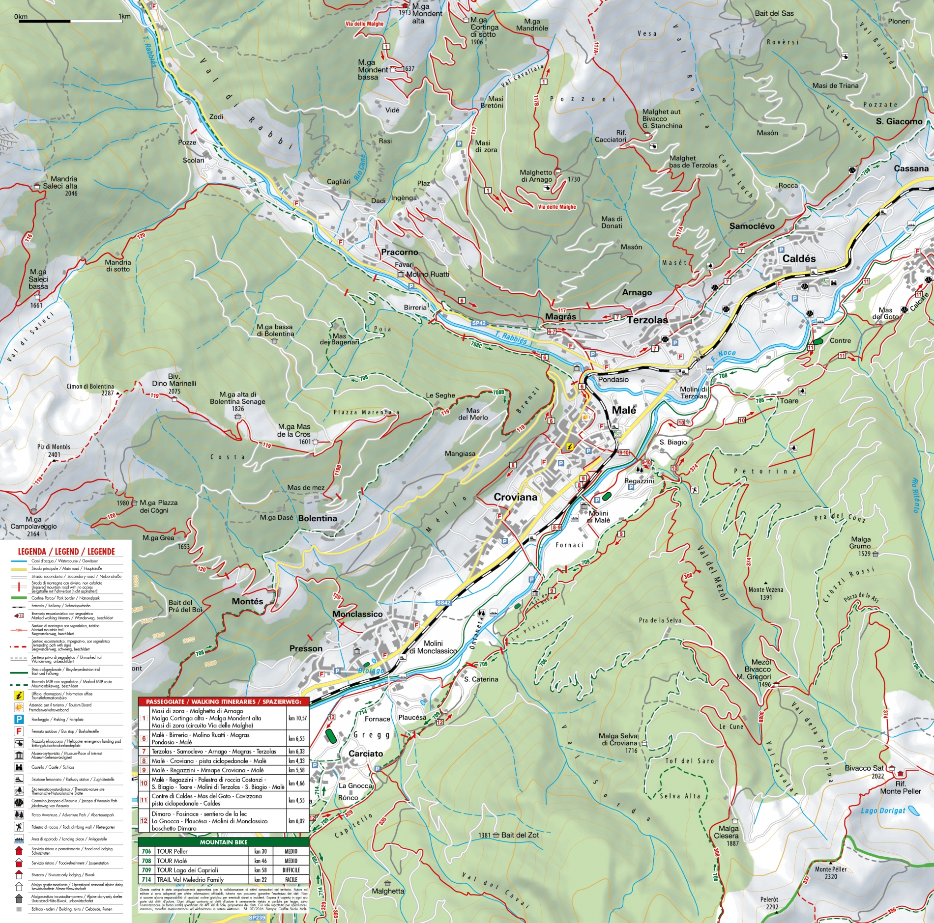 Mappa passeggiate Terzolas